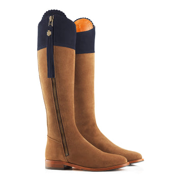 The Regina Limited Edition (Tan & Navy) - Suede Boot