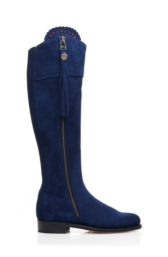 The Regina (Royal Blue) - Unlined-Suede Tassel Boots-FAIRFAX & FAVOR-FAIRFAX AND FAVOR