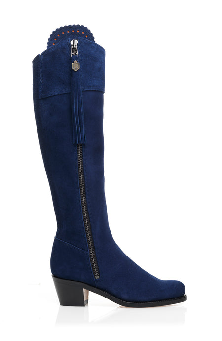 The Heeled Regina (Royal Blue) - Unlined - Outlet - Fairfax & Favor