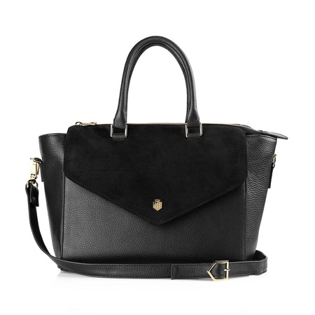 The Dorchester Handbag - Black - HANDBAGS - Fairfax & Favor