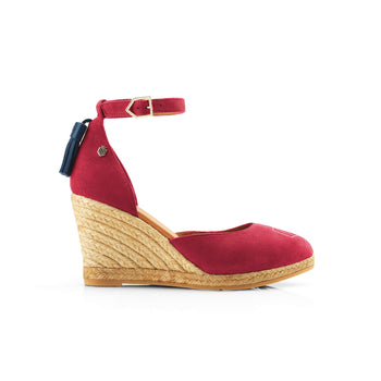 The Monaco Wedge - Raspberry
