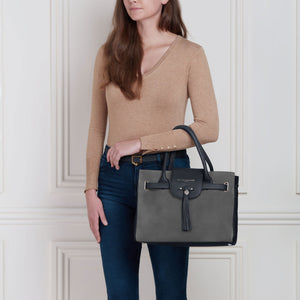 The Windsor Handbag - Limited Edition Grey & Navy