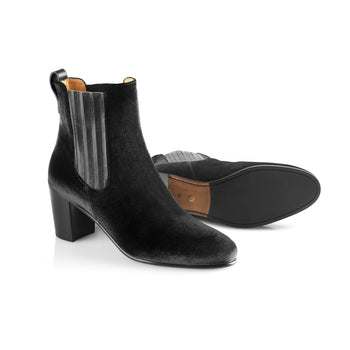 The Electra Boot Black Velvet Fairfax and Favor 3