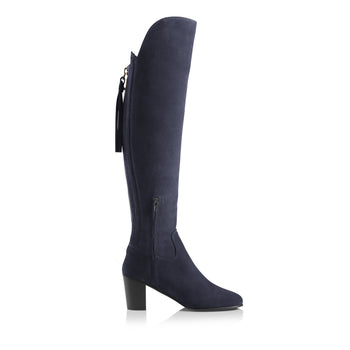 The Heeled Amira - Navy Blue