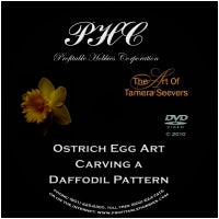 Ostrich Egg Art - Carving a Daffodil Pattern By Tamera Seevers