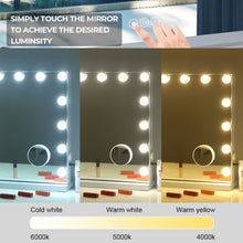 Load image into Gallery viewer, Sleek Frameless Hollywood LED Mirror with Speakers