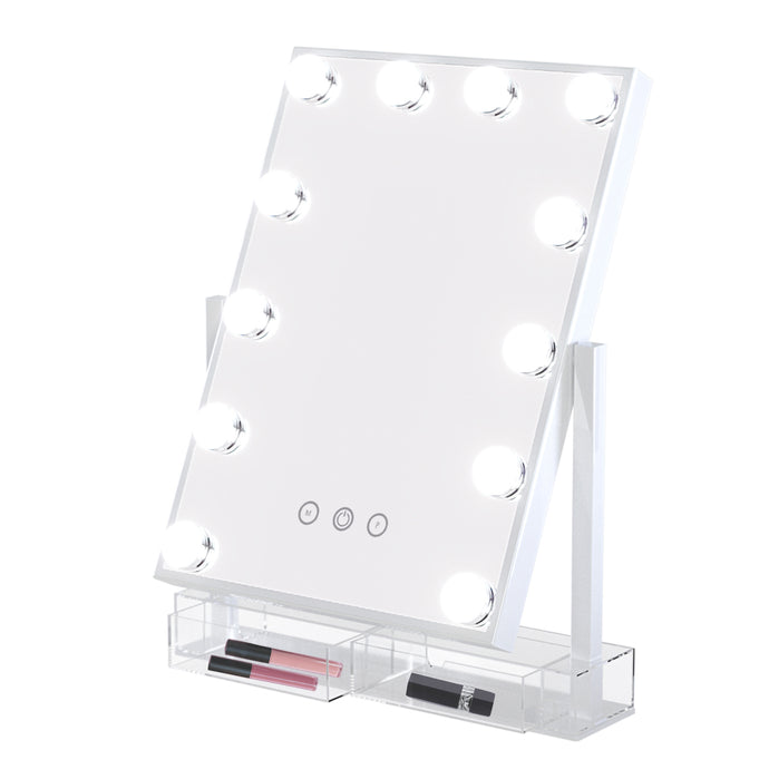 Bella Touch LED Makeup Mirror With Organizer