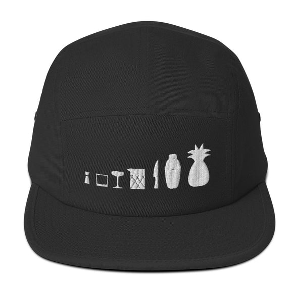 Bar Tools and Pineapples Five Panel Cap