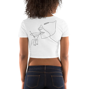 Women's Crop Tee Victoria Cocktail Minimalism