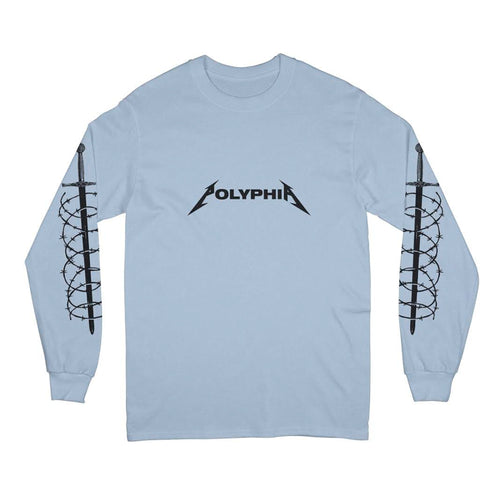 Snakes Light Blue Long Sleeve Shirt
