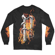 Load image into Gallery viewer, Flames Black Long Sleeve Shirt