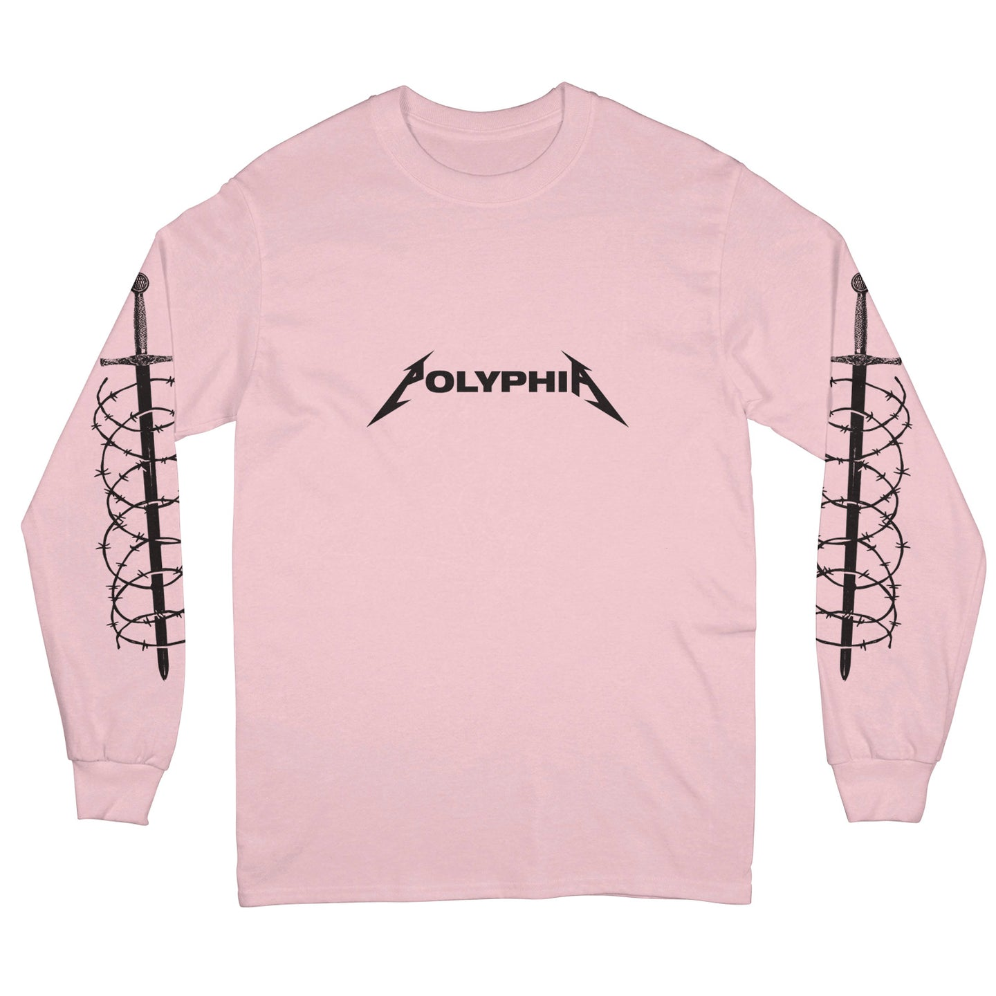 Snakes Light Pink Long Sleeve Shirt