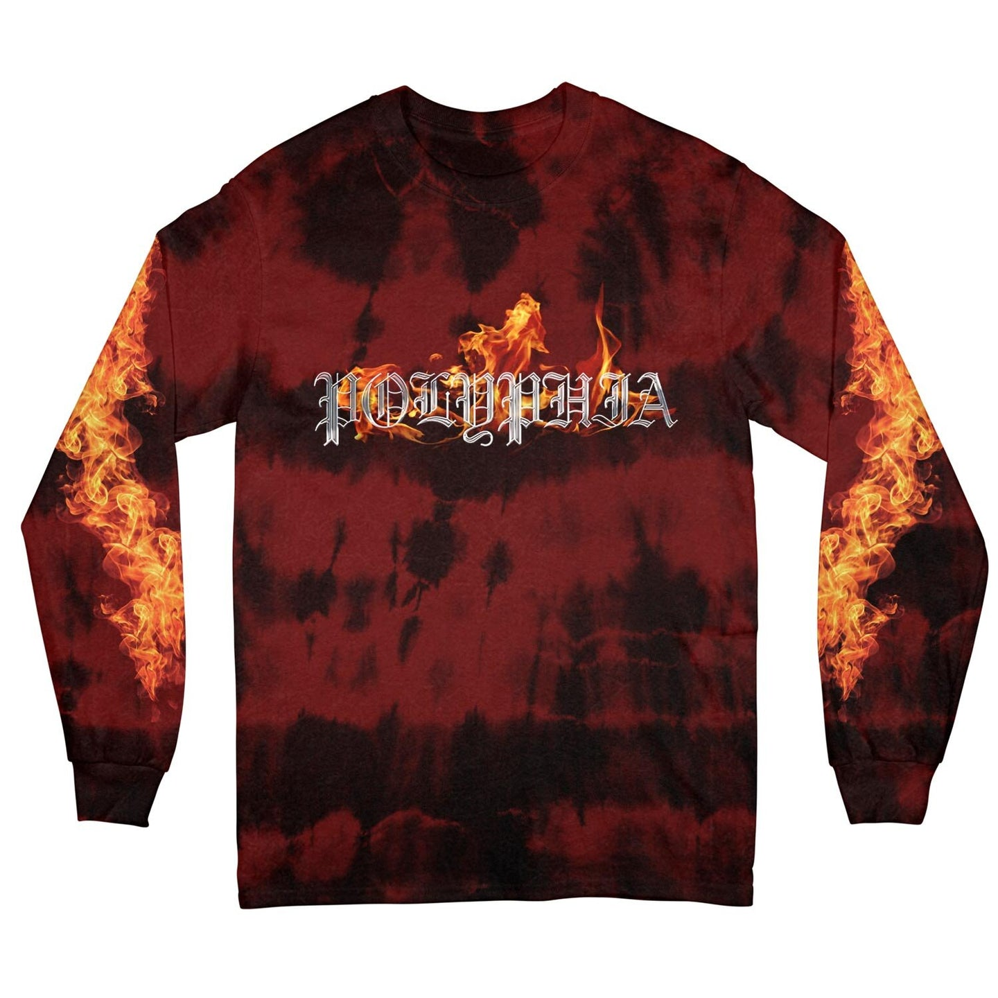 Flames Red Custom Dye Long Sleeve