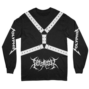 Straps Black Long Sleeve Shirt