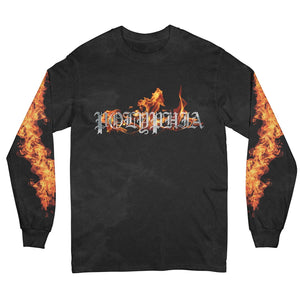Flames Black Long Sleeve Shirt