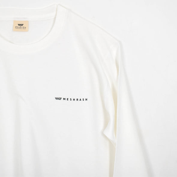 Logo Long T - White