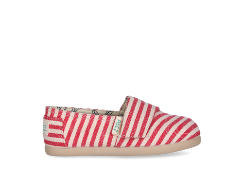 Espadrilles_rouge_enfant, chaussure_toile, paez, ballerine, slipers, slippers, tongs, sandales, havaianas, toms, payote, maison_espadrille, rayée_rouge