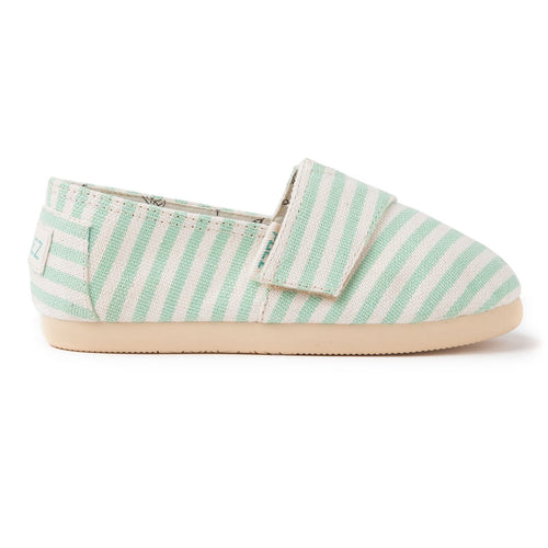 Espadrilles_verte_enfant, chaussure_toile, paez, ballerine, slipers, slippers, tongs, sandales, havaianas, toms, payote, maison_espadrille, surfy_light_green
