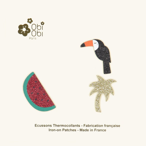 Thermocollants_palmier_pasteque_toucan_obi-obi