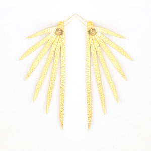 "Open image in slideshow, ""Stay Gold"" Statement Earring Collection"