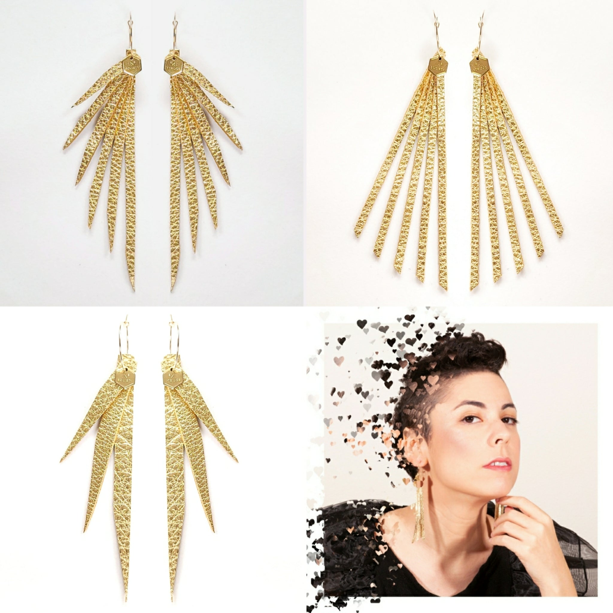 """Stay Gold"" Statement Earring Collection"