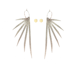 "Open image in slideshow, The ""Sterling Cooper"" Layered Leather Earring Collection"