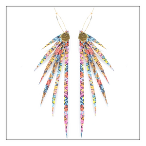 Open image in slideshow, New! The Birds of Paradise Leather Earring Collection