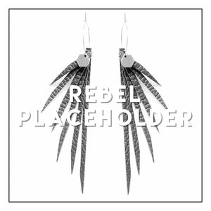 Open image in slideshow, NEW! The 'Welcome to the Jungle' Series- Teal Suede Leather Fringe Hoop Earrings