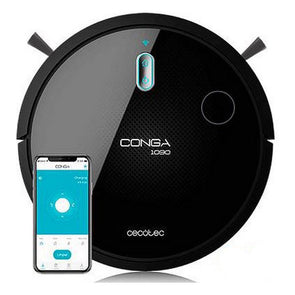 Robot Vacuum Cleaner Cecotec Conga 1090 Connected 1400 Pa 64 dB WiFi Black