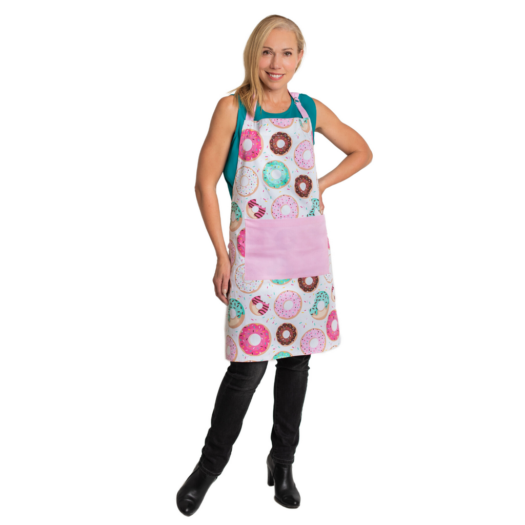 Donut Printed Adult Cotton Apron