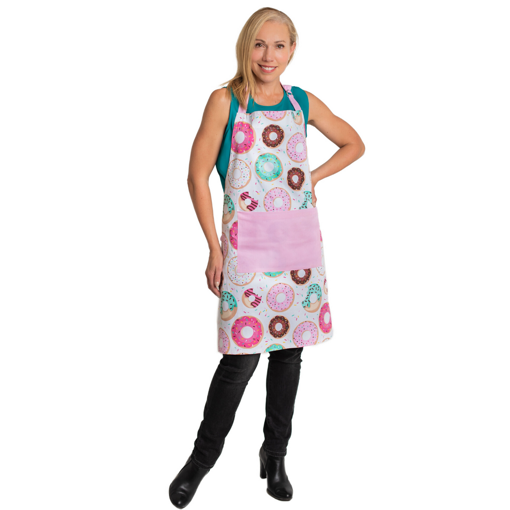 Parent and Child Matching Aprons Donut Print