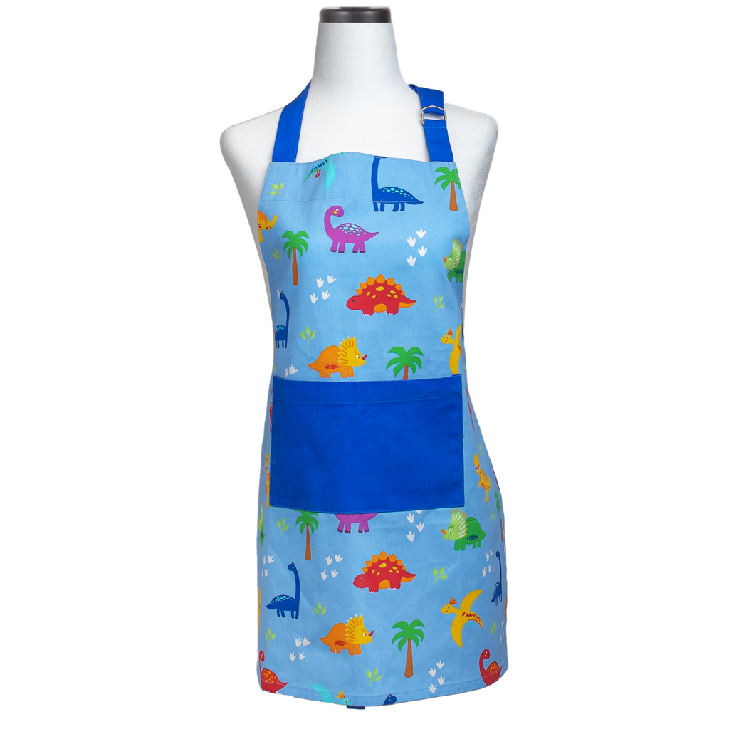 Dinosaur Print Kids Cooking Apron
