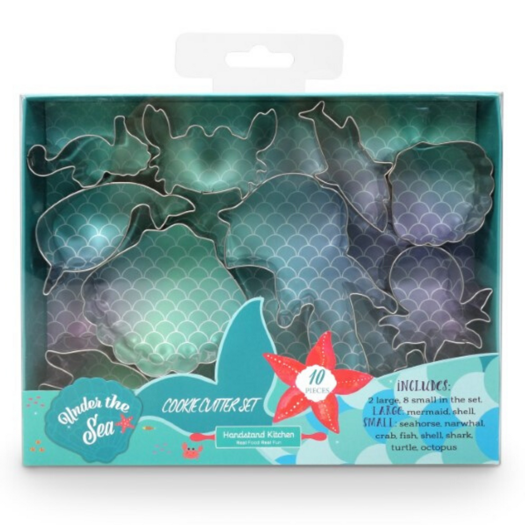 Under the Sea Mermaid and Shell 10 Piece Cookie Cutter Kids Cookie Set