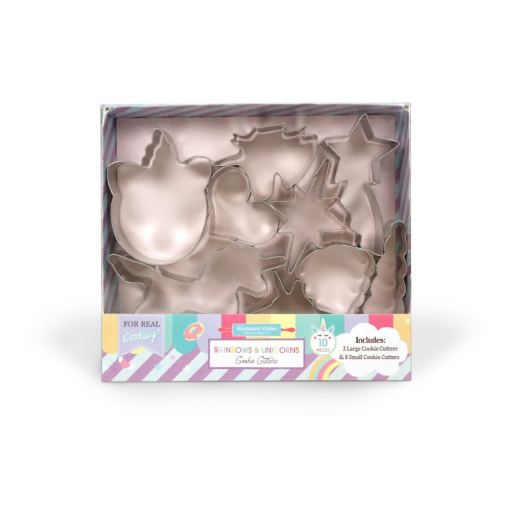 Kids Rainbows and Unicorns 10 Piece Cookie Cutter Set