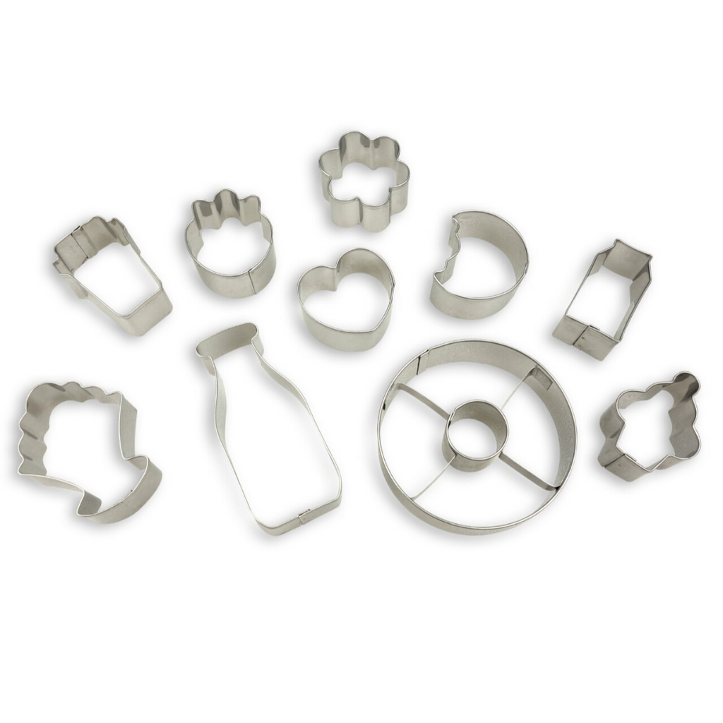 Stainless Steel Donut Shaped 10 Piece Cookie Cutter Set
