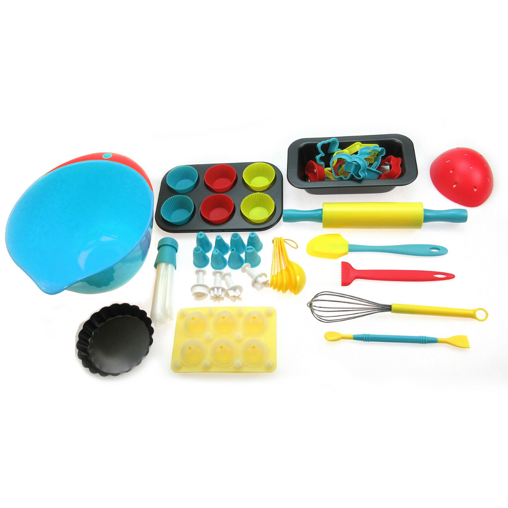 75 Piece Kids Cooking Set Silicone and Utensils