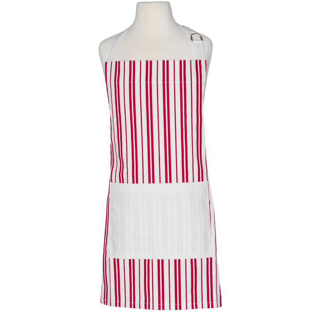 Red and White Striped Child Apron