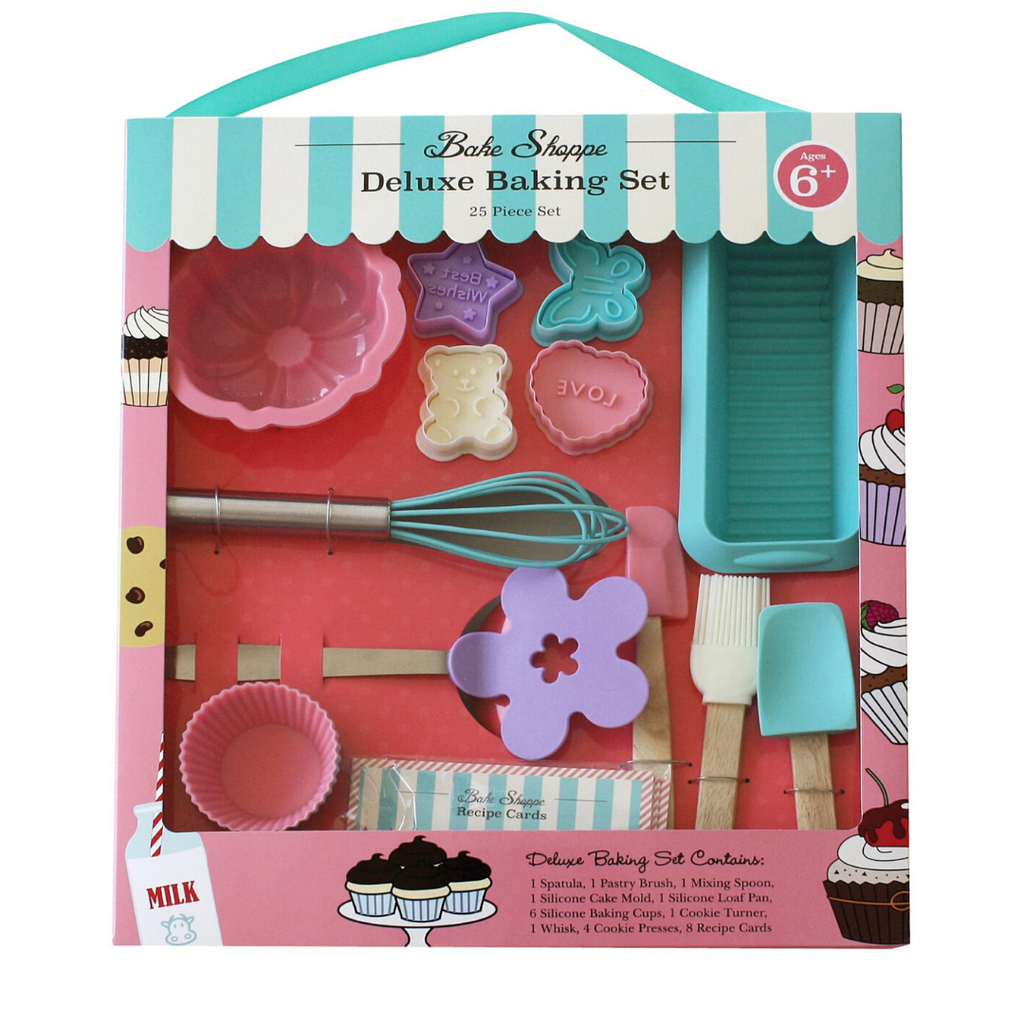 Kids Deluxe Shoppe Baking Kit 6 Piece Cooking Kit with Utensils