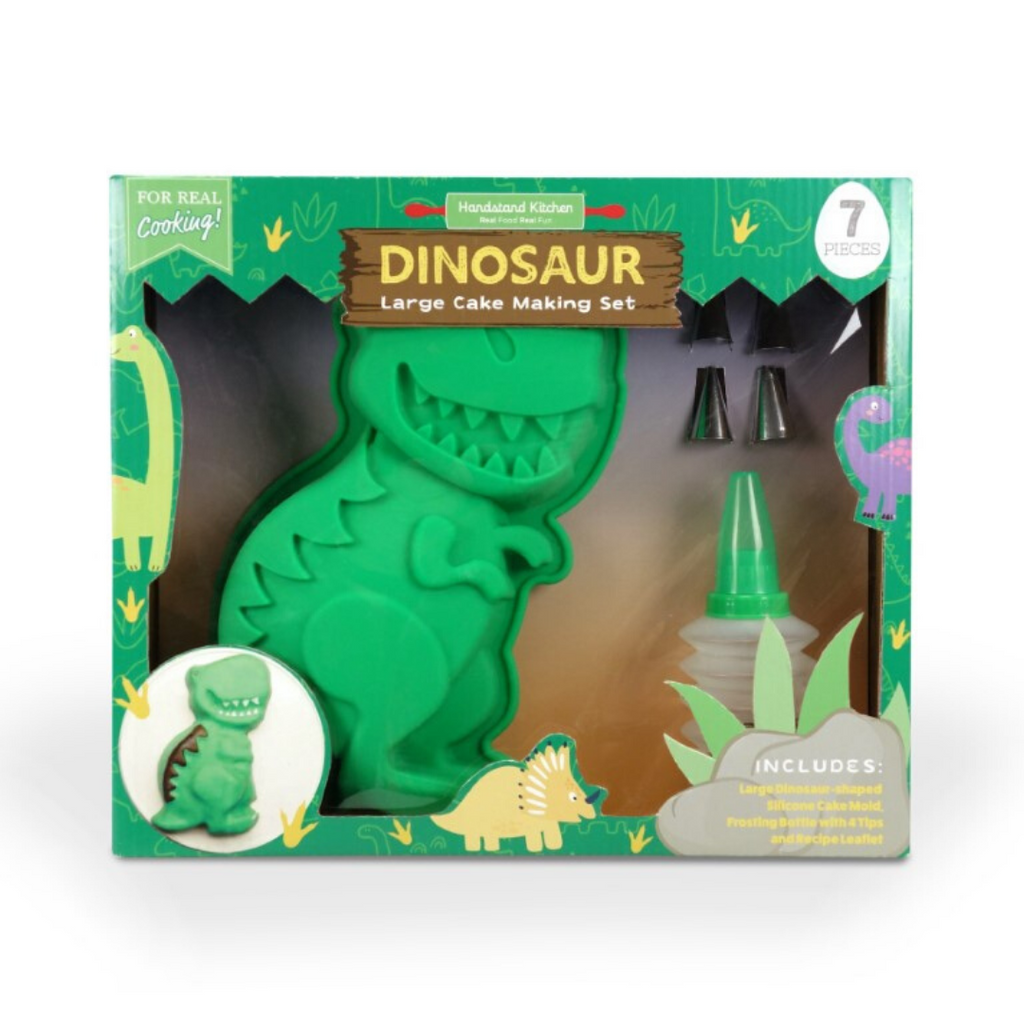 Kids Dinosaur Cake Making Silicone Mold and Accessories