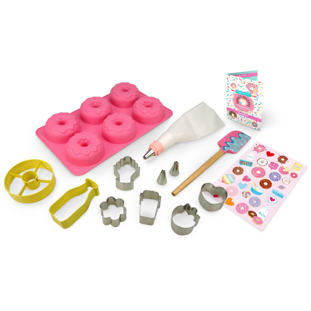 Donut Ultimate Kids Baking Kit Donut Cupcakes and Donut Cookie Cutters
