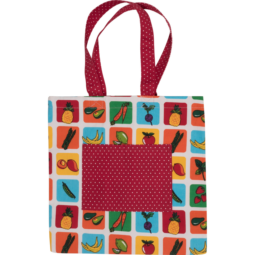 Kids Farmers Market Fruit and Vegetables Print Tote Bag