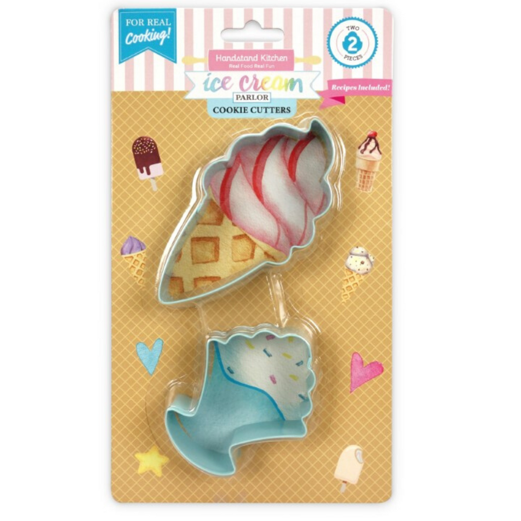 Set of 2 Ice Cream Shaped Cookie Cutter Set