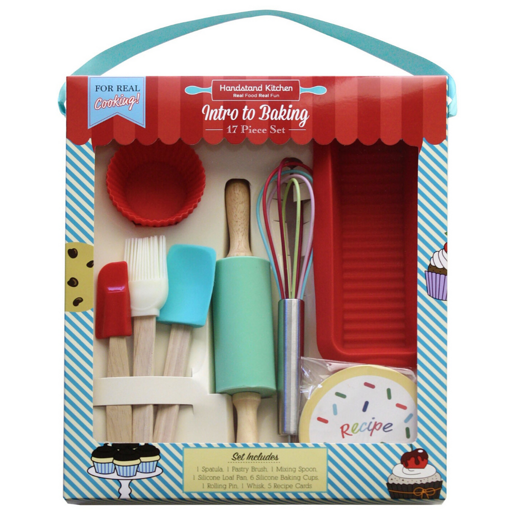 Kids Intro to Baking Cooking Kit with Accessories and Loaf Mold