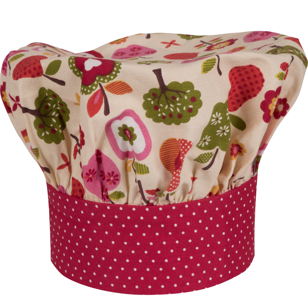 Apple Print Child Size Chef Hat