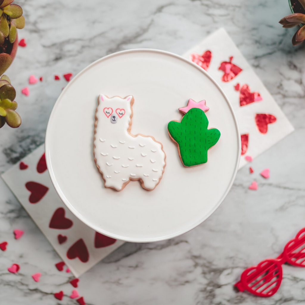 Llama and Cactus 2 Piece Cookie Cutter Set