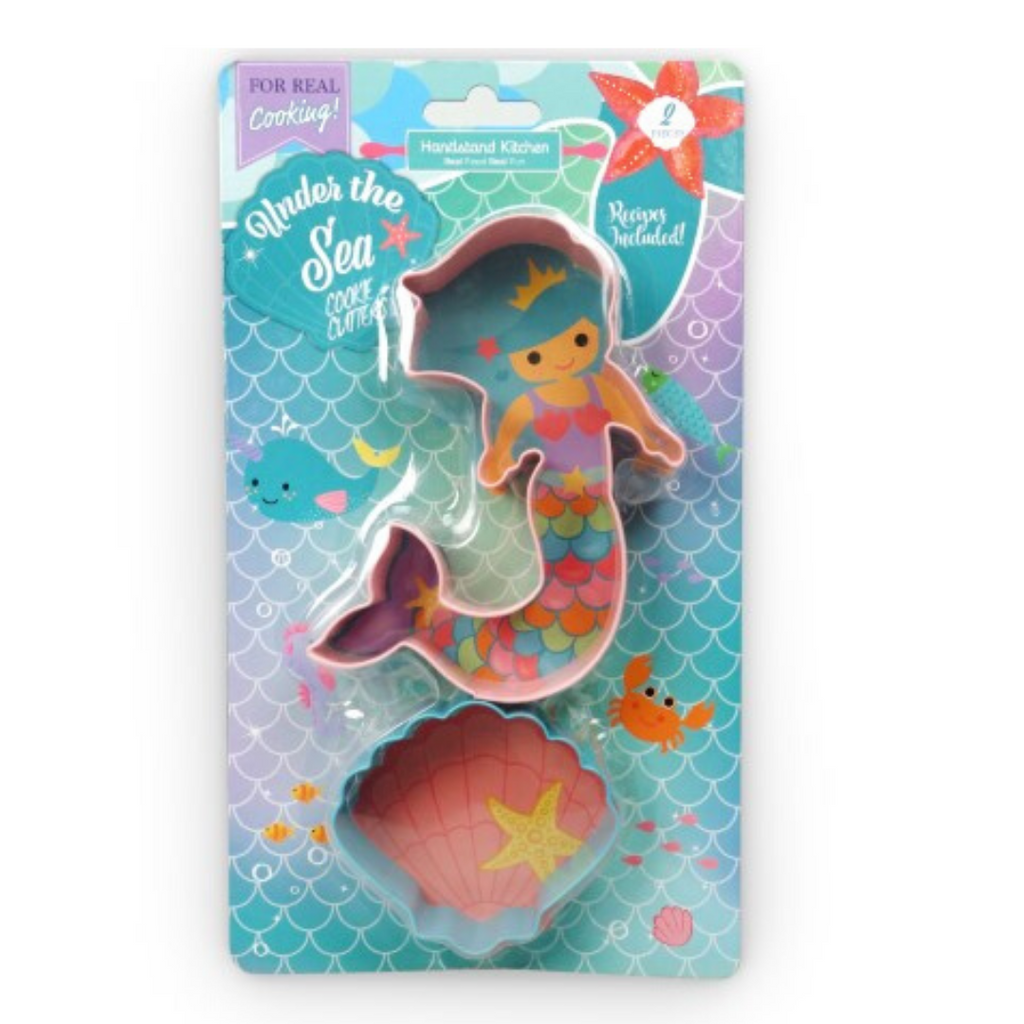 Set of 2 Under the Sea Mermaid Shaped Cookie Cutter Set