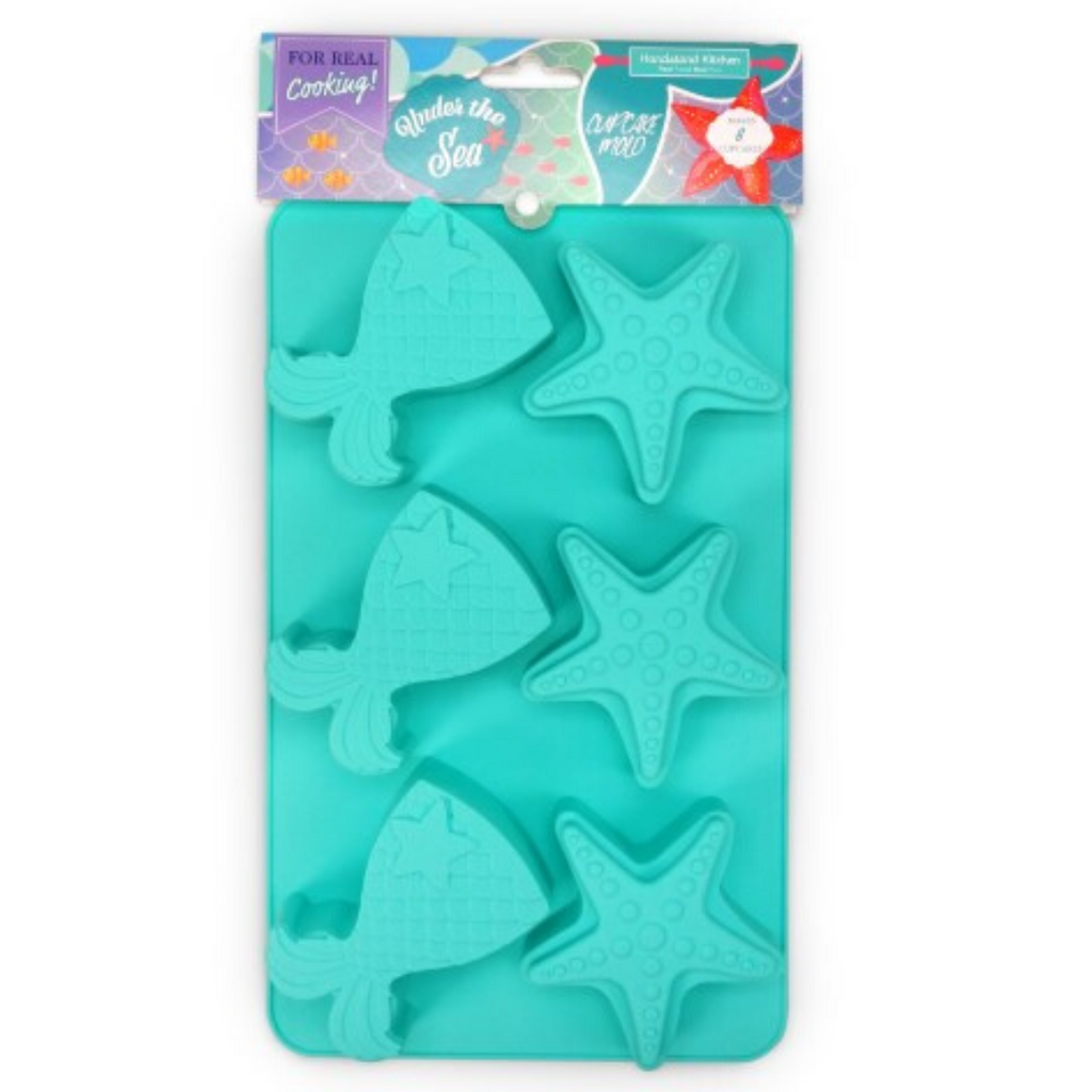 Under the Sea Mermaid and Starfish Silicone Cupcake Mold