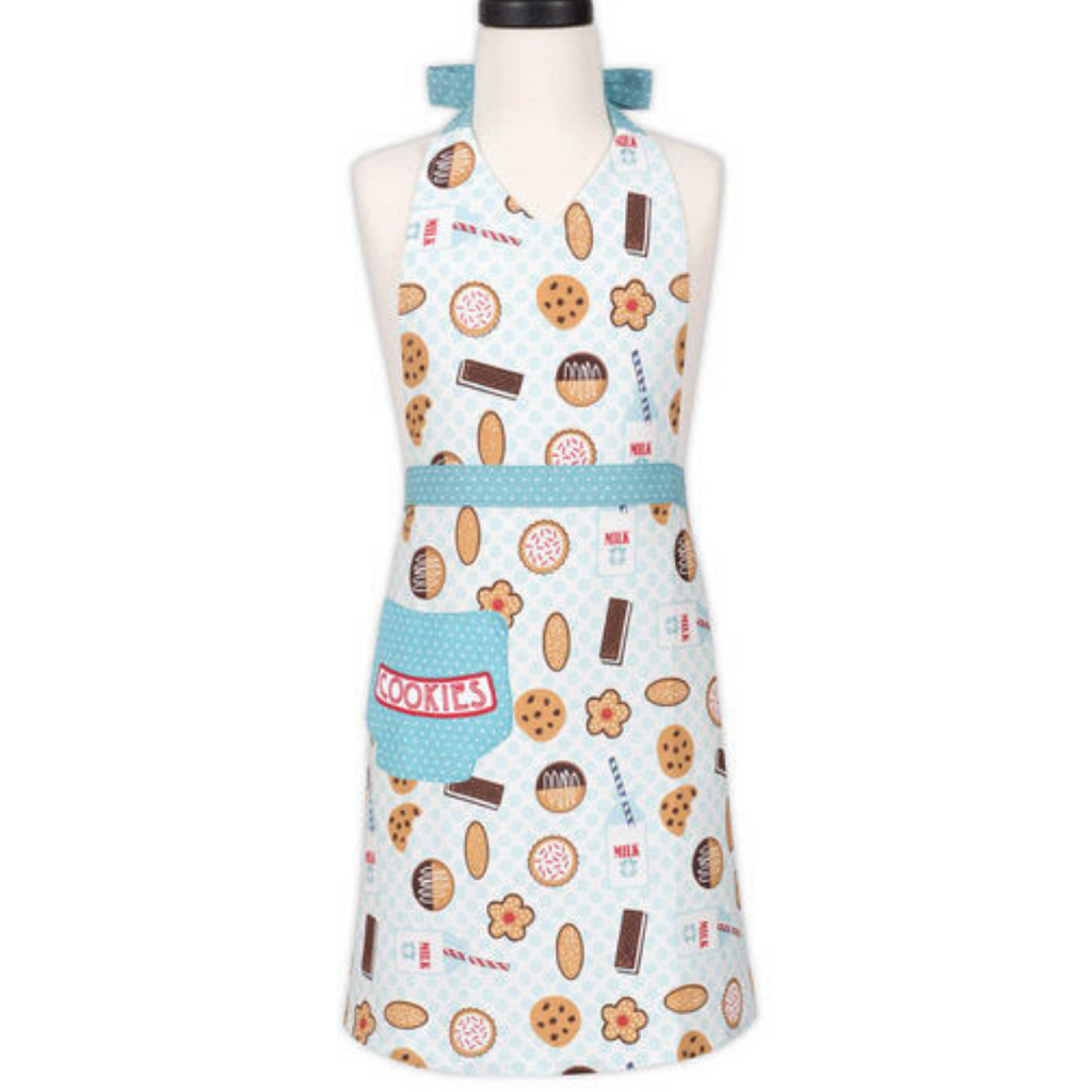 Milk and Cookies Print Adult Cooking Apron