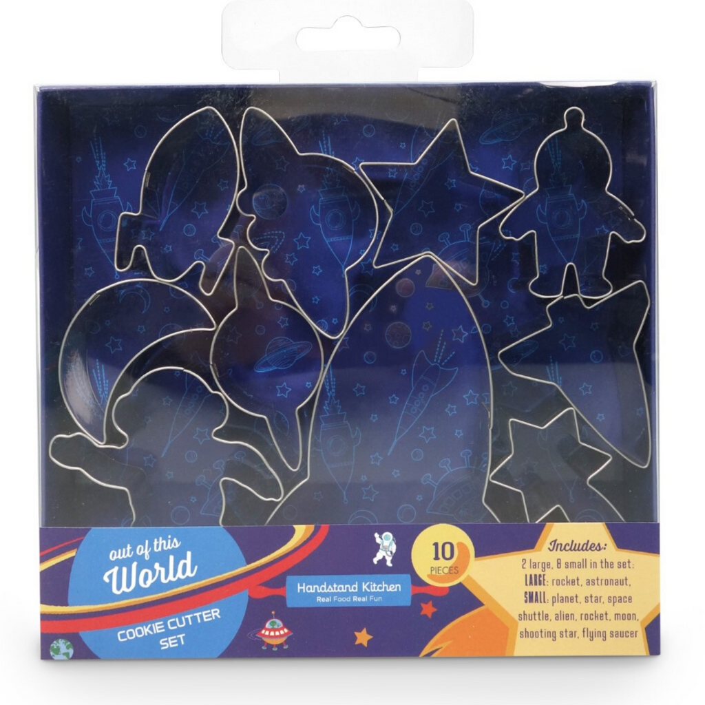 Out of this World Space Themed Cookie Cutter Set Stainless Steel