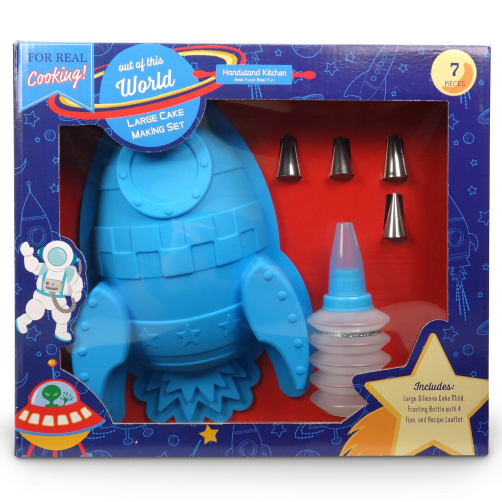 Out of this World Rocket Shaped Silicone Cake Making Kit